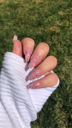 White Nails, Cute Gel Nails, Cute Acrylic Nails, 3d Nails, Coffin Nails, Nail Colors, Long Nails, Short Nails, Gel Nail Art Designs