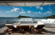 """After selling his company, Affiliated Computer Services to Xerox in 2010, Darwin Deason, has spent 3-6 months a year on his 205-foot yacht Apogee, which means pinnacle in Greek.  Apogee has a gym with panoramic ocean views and a lounge for entertaining, including a Wurlitzer juke box, a Karaoke machine, an Onyx bar and a 12-person Jacuzzi.  Apogee is specially designed for large-scale events.  Deason says, """"I love entertaining. I love to be around my friends who party.""""   CeremoniesAtSea.com"""