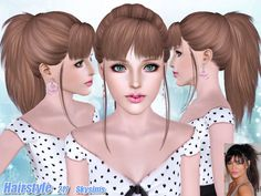 Female hairstyle for toddlers, children, teen (young) adults and elders.  Found in TSR Category 'Sims 3 Hair Sets'