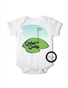 Cutest caddy onesie - little golfer - buy it now from CanopyDesigns on Etsy