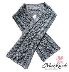 Learn to crochet a trendy cable scarf for ladies, made by silky wool blended yarn in this free crochet pattern written in US terms.