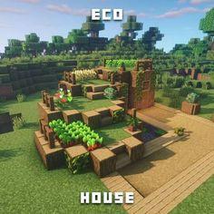 "Fresh # ""Eco I am really proud of this design. # 😍 # … # (The # part # a # joke "" – minecraft Minecraft Farmen, Minecraft Villa, Minecraft Houses Survival, Easy Minecraft Houses, Minecraft Houses Blueprints, Minecraft House Designs, Minecraft Decorations, Minecraft Construction, Amazing Minecraft"
