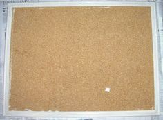 how to add fabric to bulletin boards