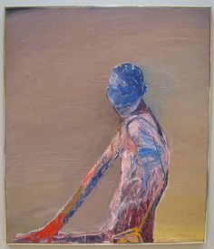Nathan Oliveira    Seated Man with Blue Face and Red Hand, 1970. (1928 -2010) Stanford Museum of Art