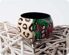 Giungla Fiori bracelet Hand Painted Jewelry by lovelytrifles