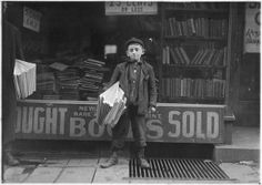 12 year old Newsboy. Hyman Alpert, been selling three years. Spends evenings in Boys Club. New Haven, Conn, March 1909, via Flickr.