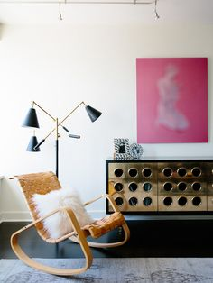 Contemporary Living Room Interior Decor Ideas- can the poang chair be turned into this?