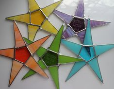Name Your Star- personalized stained glass star, choose your color, engrave a name, 9 inch star