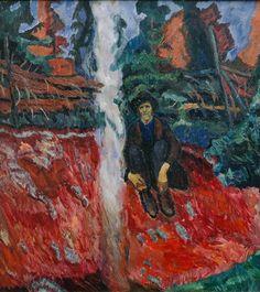 """boscdanjou: """"An outlaw by his fire Henrik Sørensen - Svartebekken / An outlaw by his fire In the collection of KODE, Art Museum of Bergen. Scandinavian Art, Art Museum, How To Make, Fire, Paintings, Kunst, Paint, Museum Of Art, Painting Art"""