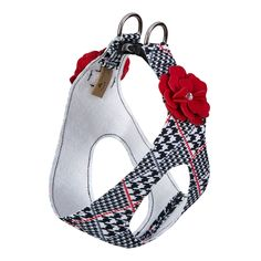 Classic Glen Houndstooth Red Tinkie's Garden Flower Genuine Swarovski – Cody's Collection Dog Harness, Pet Accessories, Houndstooth, Animal Rescue, Your Dog, Swarovski Crystals, Pure Products, Classic