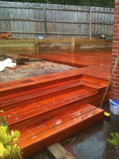 Fiji Mahogany deck - Material is now available in Toronto Ontario Canada through  Green World Lumber - www.greenworldlumber.com