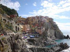 Manarola, en Le Cinque Terre (cinco pueblos italianos de la Liguria)