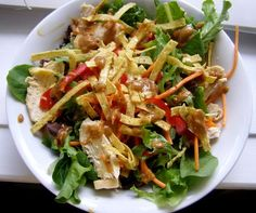 I finally found a perfect copycat recipe for Houston's Grilled Chicken Salad.