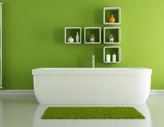 Green Bathroom Ideas For Colorful Interior Design #bathroomdecor #bathrooms