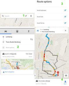 Cara mudah dan cepat mencari rute terdekat perjalanan dengan aplikasi Maps Android, cara pakai GPS dan google maps pada ponsel Android Tricks, Peta, Map, Google, Location Map, Maps