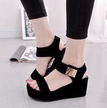 Cheap sandalias mujer, Buy Quality platform sandals black directly from China sandals black Suppliers: 2017 Women Platform Sandals Black White Sexy High Heel Wedge Sandals Fashion Summer Women Sandals Ladies Shoes Sandalias Mujer Shoes Heels Wedges, Women's Shoes Sandals, Wedge Sandals, Gladiator Sandals, Sandals Platform, Women Sandals, Shoes Women, Summer Sandals, Platform Wedge