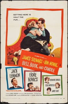 Pop Culture Graphics Bell Book and Candle Poster Movie James Stewart Kim Novak Jack Lemmon Ernie Kovacs Turner Classic Movies, Classic Movie Posters, Original Movie Posters, Classic Films, Jack Lemmon, Old Movies, Vintage Movies, Great Movies, Vintage Posters
