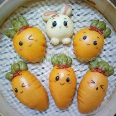 Steamed Cake, Steamed Buns, Baked Chicken Nuggets, Cute Buns, Tumblr Food, Kawaii Dessert, Cute Desserts, Japanese Sweets, Dessert Drinks
