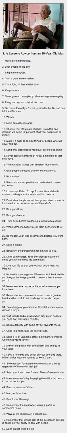 Life Lessons Advice From An 80 Year Old Man Everyone Should Read