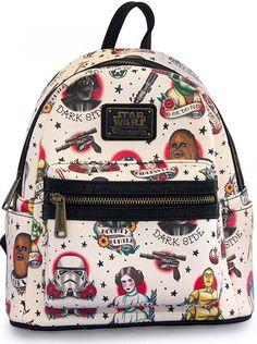 Star Wars Tattoo Flash Mini Backpack by Loungefly | Inked Shop #inked #inkedshop #inkedmagazine #backpack #starwars