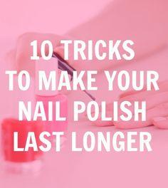 Make your nail polish last longer!
