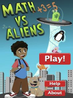 Math vs Aliens is an addition and subtraction math game app for kids.