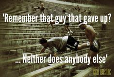 True never give up!