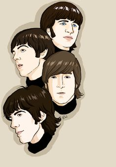 4 beatles art projects the beatles, beatles art и the beatle The Beatles 1, Beatles Photos, Art Through The Ages, Art Simple, The Fab Four, Show Photos, Art Design, Art Music, Caricature