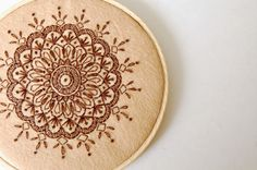 SewSweetStitches: DIY Embroidered Mandala Tutorial #embroidery #felt