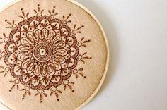 SewSweetStitches: DIY Embroidered Mandala Tutorial #embroidery #felt