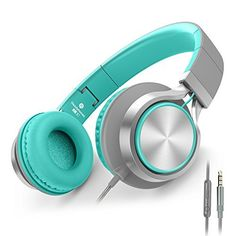 """AILIHEN C8 Headphones with Microphone and Volume Control Folding Lightweight Headset for iPad iPhone iPod Tablets Smartphones Laptop Computer PC Mp3/4 (Grey/Mint)"""" #AILIHEN #Headphones #with #Microphone #Volume #Control #Folding #Lightweight #Headset #iPad #iPhone #iPod #Tablets #Smartphones #Laptop #Computer #(Grey/Mint)"""""""