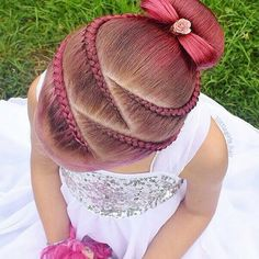 hairstyles little girl hairstyles crown hairstyles blonde hairstyles indian for braided hairstyles hairstyles straight hair hairstyles prom braided hairstyles Little Girl Braid Hairstyles, Little Girl Braids, Baby Girl Hairstyles, Kids Braided Hairstyles, Girls Braids, Pretty Hairstyles, Dance Hairstyles, Hairstyles 2018, Updo Hairstyle