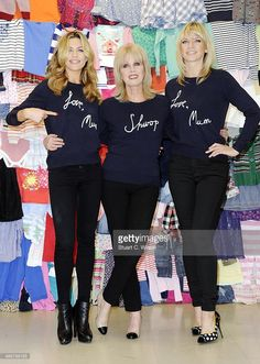 Abbey Clancy, Joanna Lumley and Zoe Ball attends a photocall to launch the M&S 'Love, Mum' shwopping campaign in conjunction with Oxfam at Marks & Spencer Marble Arch on February 4, 2014 in London, England.