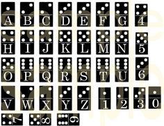 Altered DOMINO Alphabet Letters and Numbers Charm SIze Digital Collage Sheet         April 21, 2014 at 10:52AM