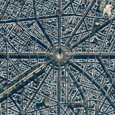 Aerial geometric view of the center of Paris with focus on the Arc de Triomphe. Located at the centre of 12 radiating avenues in Paris, France, construction of the Arc de Triomphe took nearly 30 years to comp Paris Travel, France Travel, Travel Europe, Usa Travel, Paris France, Triomphe, I Love Paris, Birds Eye View, Tour Eiffel