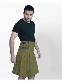 Green Deluxe Kilt for Royal Men