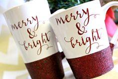Christmas  Mug / Glitter Christmas Mug / Merry by SparkledLightBTQ