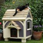 Make Comfrotable Outdoor Cat Houses Idea