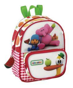 Mini mochila infantil de Pocoyo, para ir al cole y la guardería. Dimensiones: 18 cm x 23 cm x 7,5 cm.