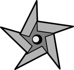 Ninja star pattern. Use the printable outline for crafts ...