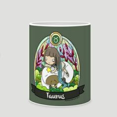 Taurus Zodiac Mug by Marmalade June Winda Lee