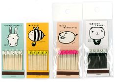 Anything can be cutified, and these matches prove it!  Just don't think too hard about setting the faces of these little bunnies, bees, pig, and pandas on fire to light those candles.  #kawaii