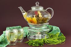 Upgrade this Christmas to our Gourmet Imperial Glass Tea Set!