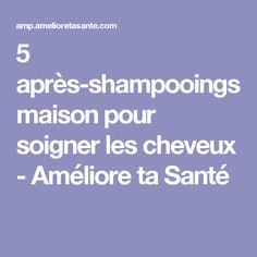 5 après-shampooings maison pour soigner les cheveux - Améliore ta Santé Homemade Beauty, Hair Growth, Parfait, Hair Care, Health And Beauty, Hair Beauty, Blog, The Noir, Diy
