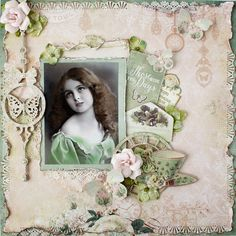 AngelicaScrappenings: April Blue Fern Studio Projects using the NEW Deja Vu Collection