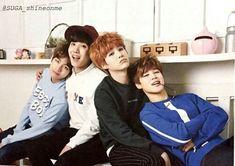 V, J-Hope, Suga, Jimin