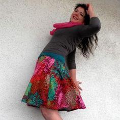 Návod a střih na půlkolovou letní sukni
