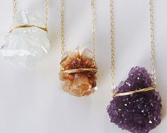 Featuring a beautiful set of vanilla Crystal Quartz stones which were hand crafted into a 14k gold filled pendants.  This necklace highlights the beautiful glowing crystal elements of this arresting stone. The stone measures approx. 15-20mm long and hangs from 18 14k gold filled chain. This is a one of a kind piece. Please choose your piece below.   Im an approved Etsy Wholesale seller, ask me for my linesheet.  My QUALITY: Gold filled pieces contain 100+ times more real gold than gold…