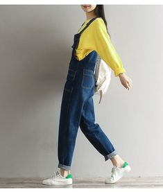 Vintage Little Friend Denim Jumpsuits for Women with Large Pockets Jeans Overalls 2017 Plus S Denim Romper, Romper Outfit, Jeans Jumpsuit, Dungarees Outfits, Ootd Fashion, Fashion Outfits, Fashion 101, Stylish Outfits, Cool Outfits