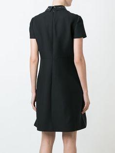 Valentino платье с воротником с заклепками